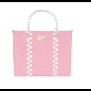 Kate Spade large pink woven tote
